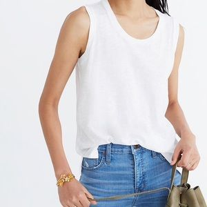 NWT Madewell White Muscle Tee Small